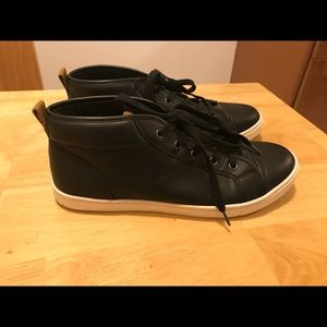 Aldo Shoes - Aldo men black leather high tops size 10.5
